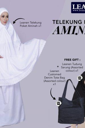Leanen Telekung Poket Aminah